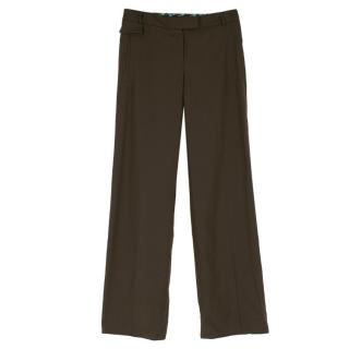 Kenzo Brown Straight Fit Trousers