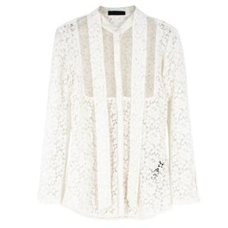 Burberry White Lace Shirt