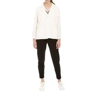 MaxMara white single-breasted blazer