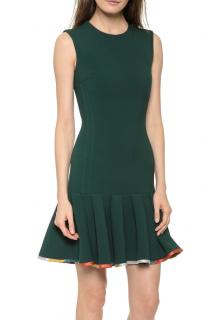 Ostwald Helgason Fluted-Hem Cocktail Dress