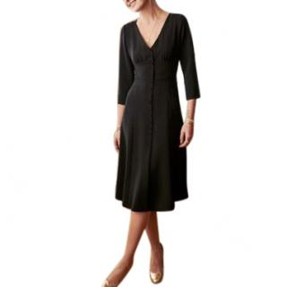 Sezane Black Button Front Dress