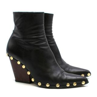 Celine Rodeo High Ankle Boot with Studs