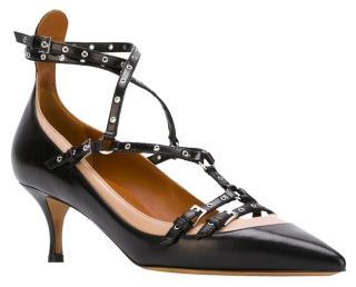 Valentino Rockstud Love Latch Kitten Heel Sandals
