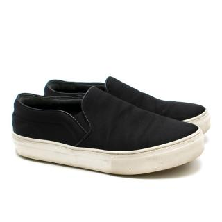 Celine Back Satin Slip-on Sneakers