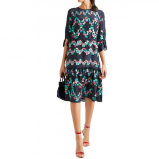 Peter Pilotto ruffled silk blend dress