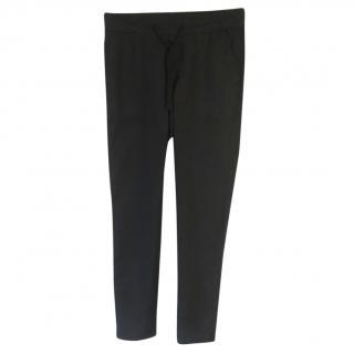 James Perse Estilo black cotton & linen blend drawstring casual pants