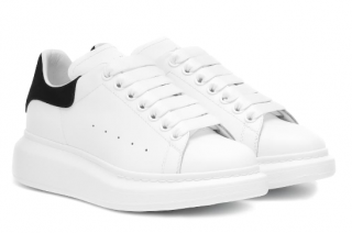 Alexander McQueen Raised-Sole Leather Trainers