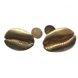 Yves Saint Laurent Rive Gauche Shell Cufflinks