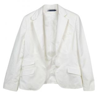 Ralph Lauren white single-breasted blazer