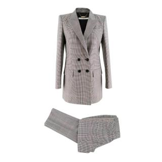 Givenchy Houndstooth Pattern Silk & Wool-blend Suit