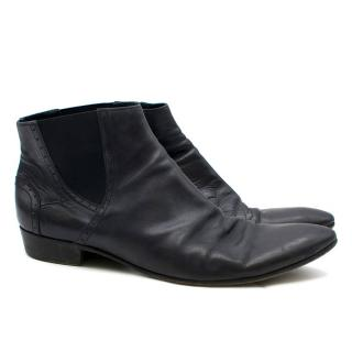 CoSTUME NATIONAL Homme Leather Chelsea Boots