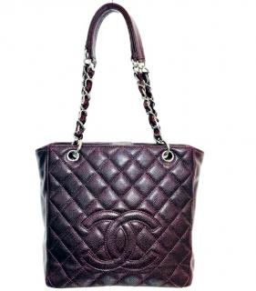Chanel Burgundy Caviar Shopper