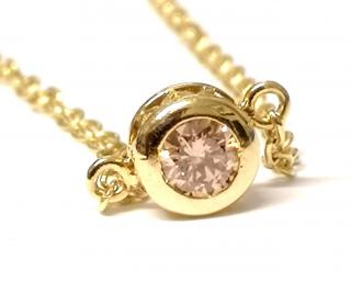 Bespoke Pink Diamond Solitaire Bracelet 0.65ct 18ct gold