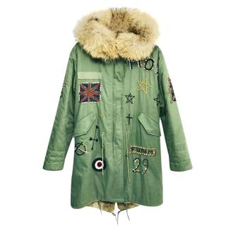 Jane & Tash fur-trimmed embellished parka