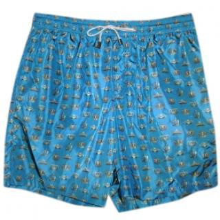 Dolce & Gabbana Crown-Print Swim Shorts