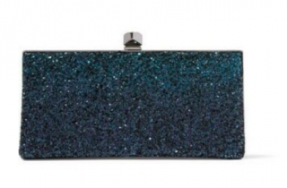 Jimmy Choo Celeste glitter-degrade clutch