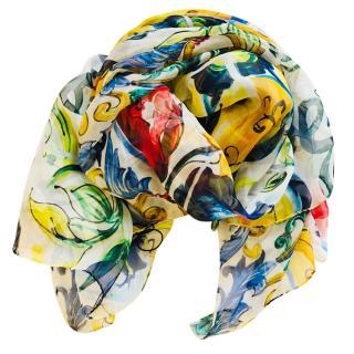 Dolce & Gabbana Majolica silk scarf