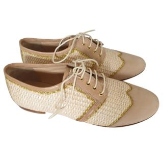 Moschino Cheap & Chic woven lace-up shoes