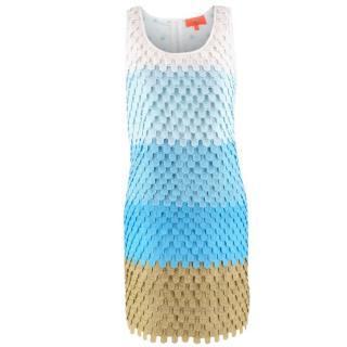 Manoush Blue Gradient Lace Shift Dress