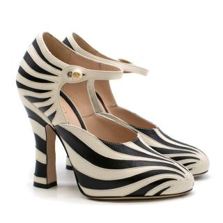 Gucci Zebra Leather Pump