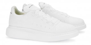 Alexander McQueen knitted raised-sole trainers