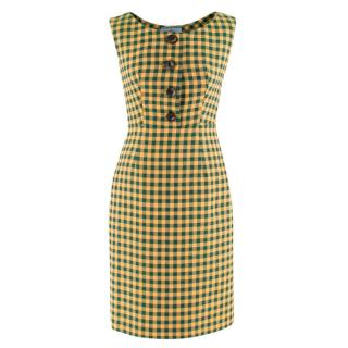 Prada Milano Gingham Check Dress