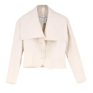 Christian Dior Ivory Wool Blend Jacket