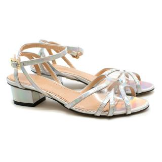 Charlotte Olympia Iridescent-Silver Heeled Sandals