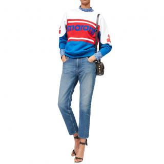 Isabel Marant Etoile Gallian Colour-Block Logo Sweatshirt