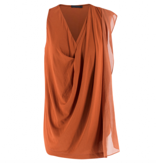 Donna Karan Black Label Brick-Orange Top