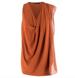Donna Karan Black Label Brick-Orange Top