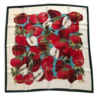 Dolce & Gabbana apple-print silk scarf