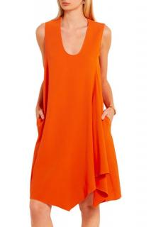 Stella McCartney Nadine Orange Asymmetric Dress