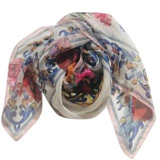 Dolce & Gabbana floral-print silk scarf