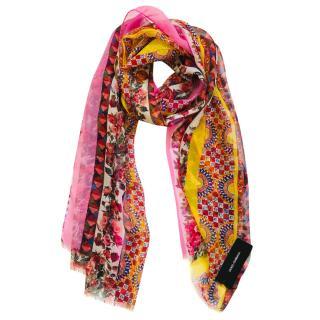 Dolce & Gabbana Roses-print silk scarf