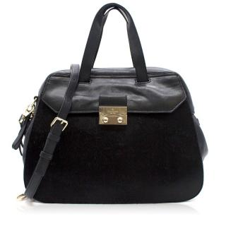 Kate Spade Adriana Alice Street Leather & Calf-Hair Satchel