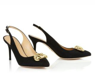 Charlotte Olympia Croisant Sling-Back Pumps