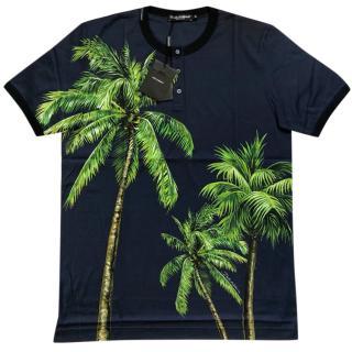 Dolce & Gabbana Men's Tropical Print T-shirt