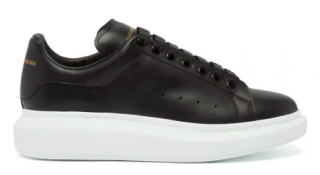 Alexander McQueen Raised-Sole Black Trainers