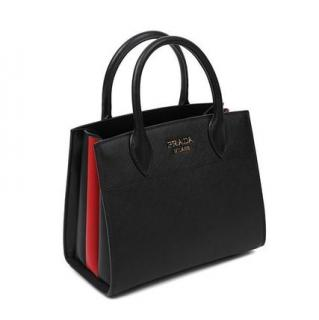 Prada Bibliotheque small saffiano leather bag