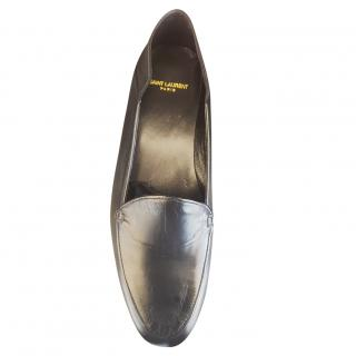 Saint Lauren Black Leather Loafers