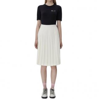Le Kilt Off-white Belted Pleated Skirt