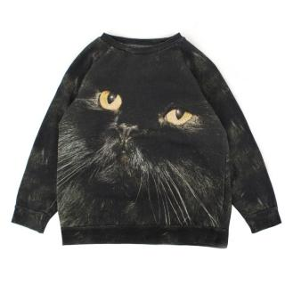 Popupshop Boys' Black Cat Print Jumper