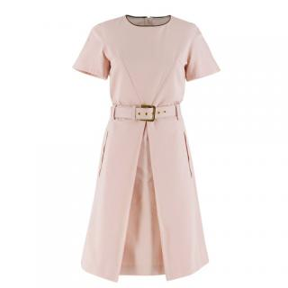 Marni belted pink A-line dress