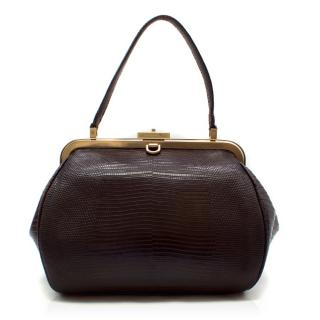 Holly Caldwell Lizard Burgundy Tote Bag