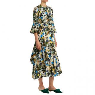 Erdem Florence Mariko Meadow-print silk dress