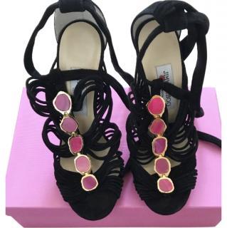 Jimmy Choo stone-embellished suede sandals