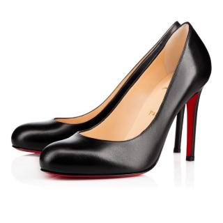 Christian Louboutin Black Simple Calf Leather Pumps