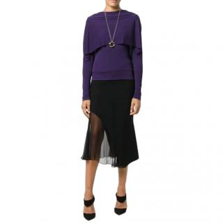 Roland Mouret New Season Purple Layered Blouse