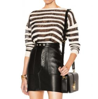 Saint Laurent black & white striped jumper